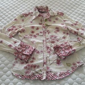BOGO 7 Diamonds Small Long sleeve Collared Shirt